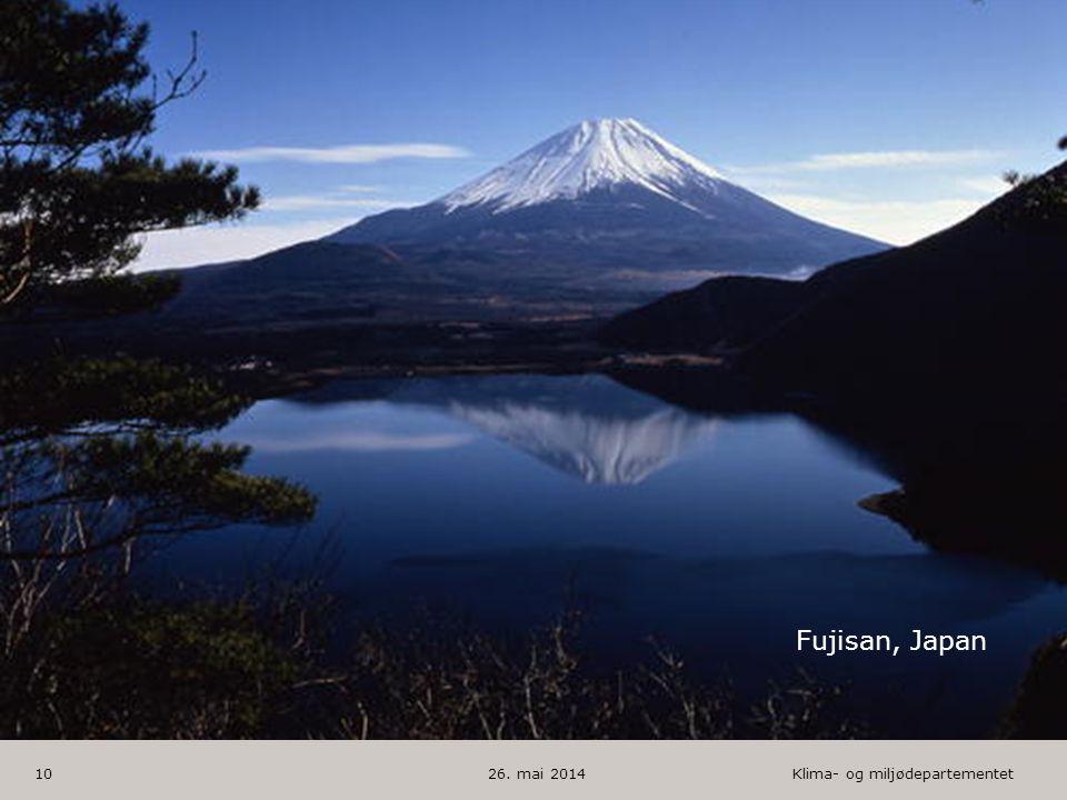 Klima- og miljødepartementet Norsk mal: 1 utfallende bilde HUSK: krediter fotograf om det brukes bilde 26. mai 201410 Fujisan, Japan