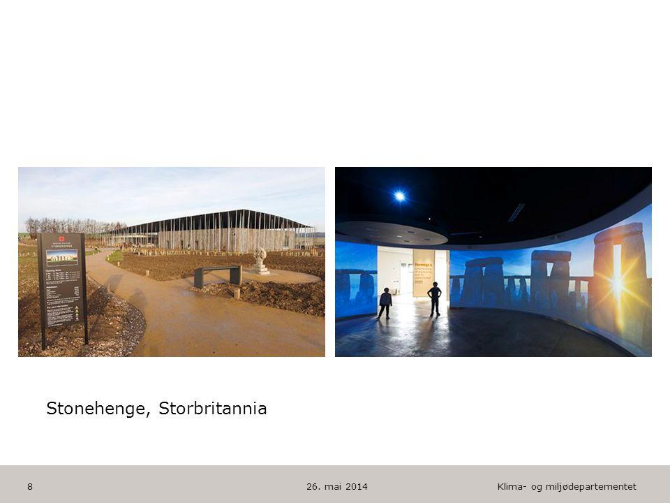 Klima- og miljødepartementet Norsk mal: To innholdsdeler - Sammenlikning HUSK: krediter fotografom det brukes bilde 26. mai 20148 Stonehenge, Storbrit
