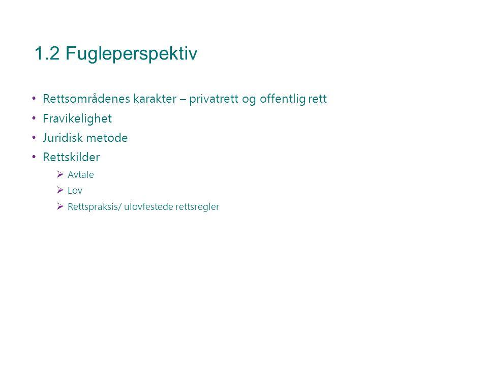 1.3 Pensum med mer Pensum: Langfeldt & Bråthen kap 12, 13, 15 og 18 Tilleggslitteratur Lenker Oppgaver og kontrollspørsmål