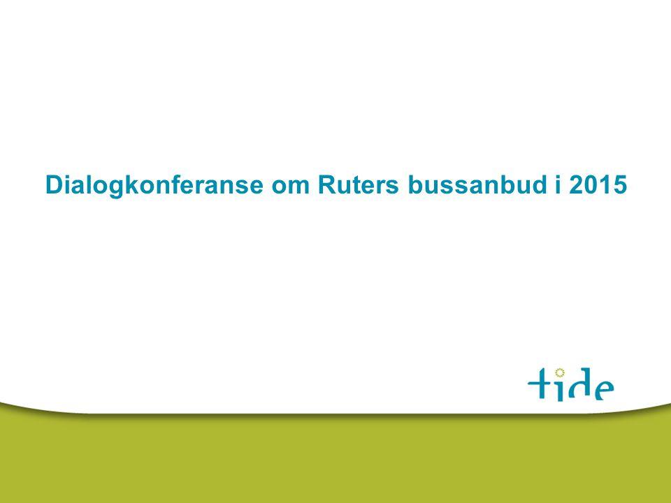 Dialogkonferanse om Ruters bussanbud i 2015