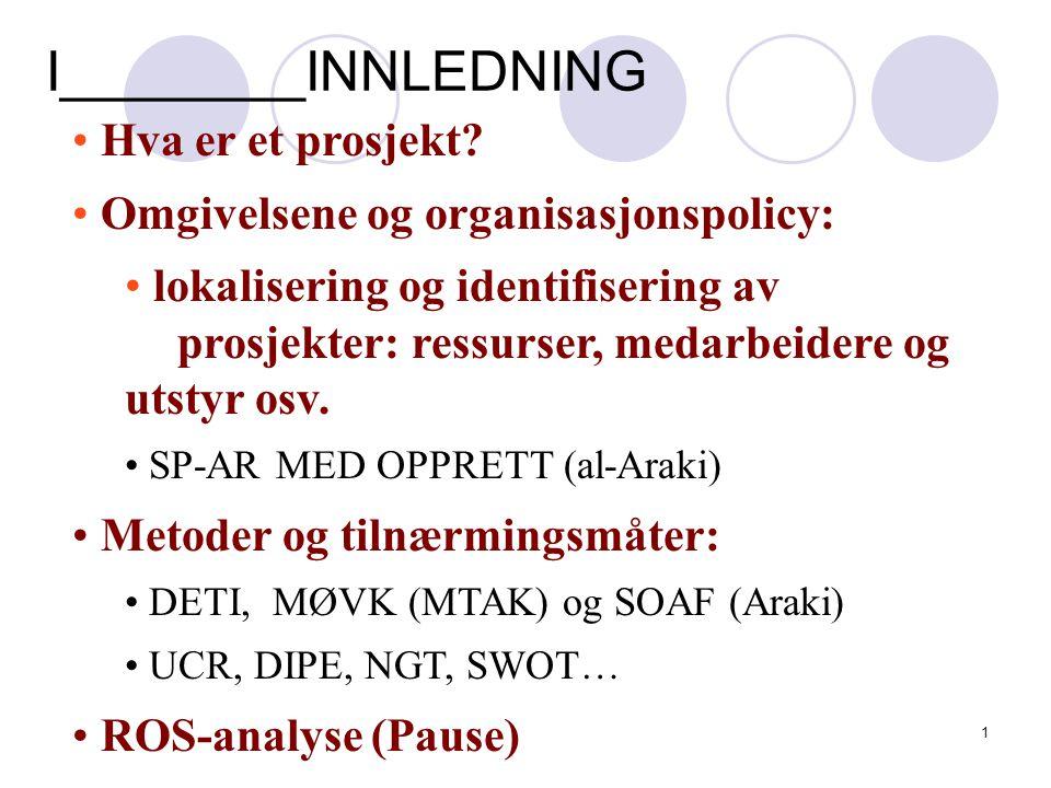 11 Prosjektlederen Politics of project management: Politics is the art of influence.