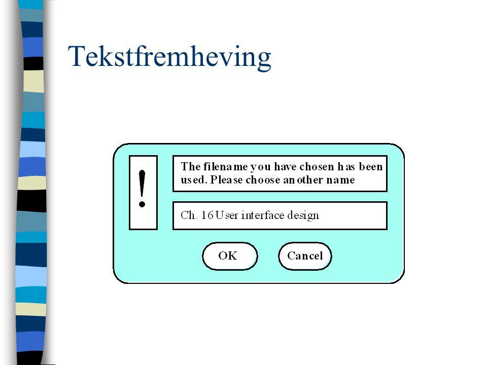 Tekstfremheving