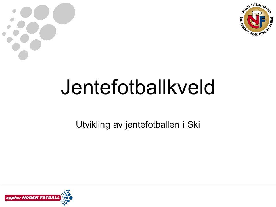 Jentefotballkveld Utvikling av jentefotballen i Ski
