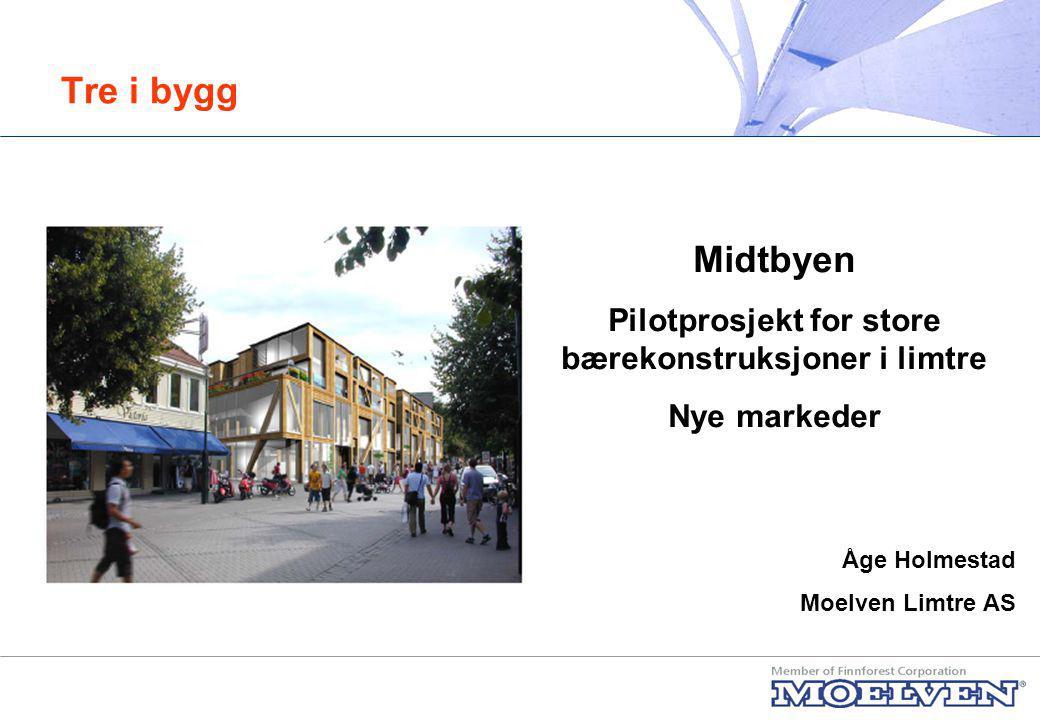 Tre i bygg - Midtbyen Presentasjon av løsningene på Midtbyen Våre erfaringer
