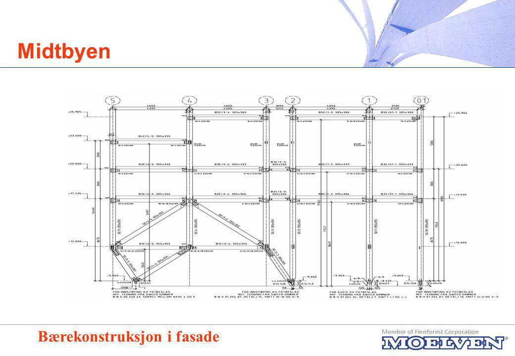 Midtbyen Typisk bjelketverrsnitt for opplegg av betongelementer