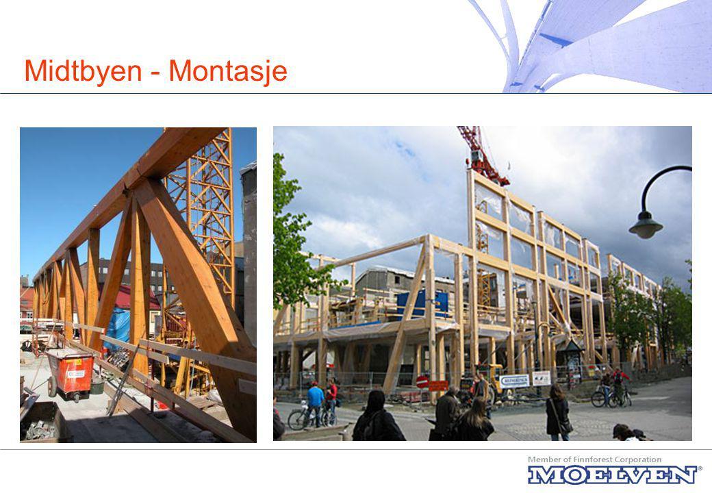 Midtbyen - Erfaringer Tekniske løsninger Små tekniske problemer i byggefasen Store eksponerte trefasader i Trondheim .