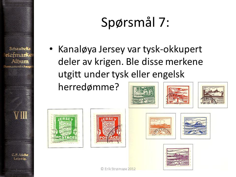 Spørsmål 8: 9 Hva eller hvem er det bilde av på forsiden av denne nød-pengen.