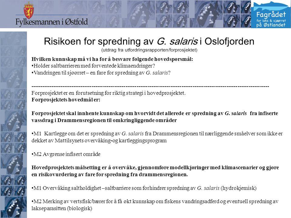 FjordOs-Drifterforsøk.GPS driftere: -To driftere sluppet kl.