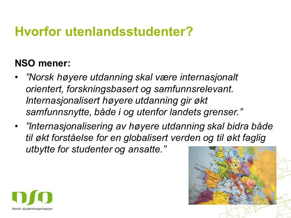 Hvorfor utenlandsstudenter.