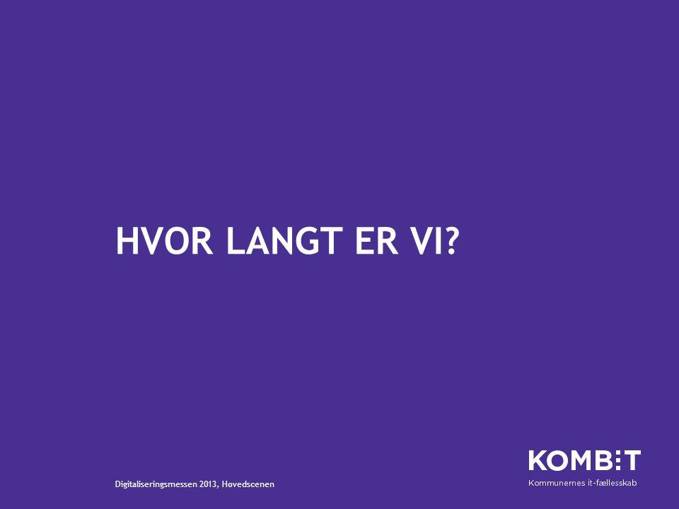 HVOR LANGT ER VI Digitaliseringsmessen 2013, Hovedscenen