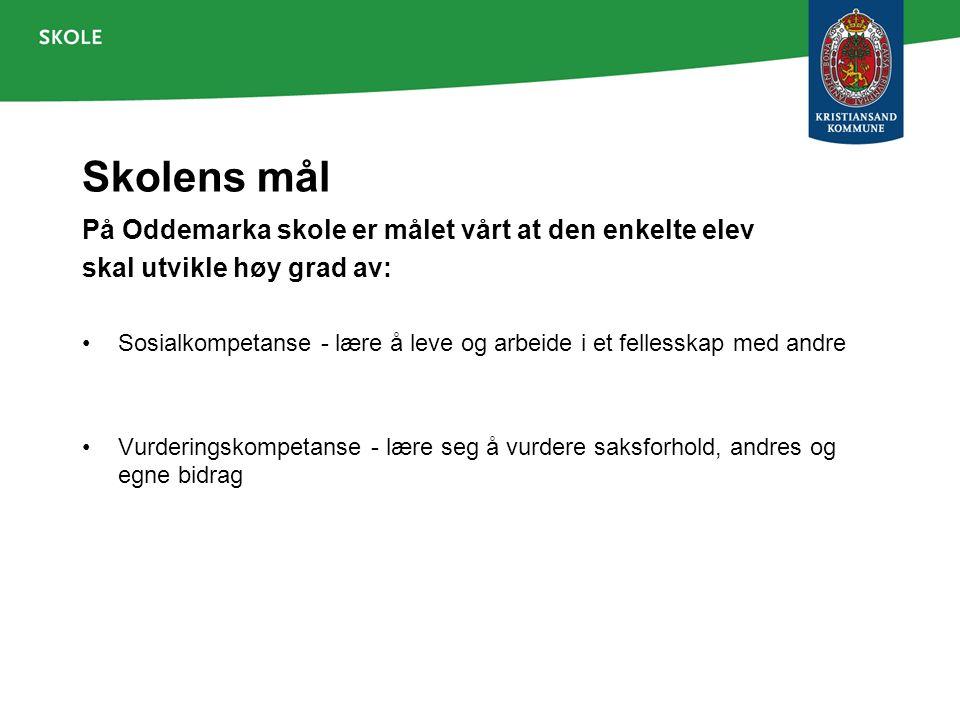 Oddemarka - byens beste skole Oddemarka skole er en inkluderende, verdibasert og lærende skole.