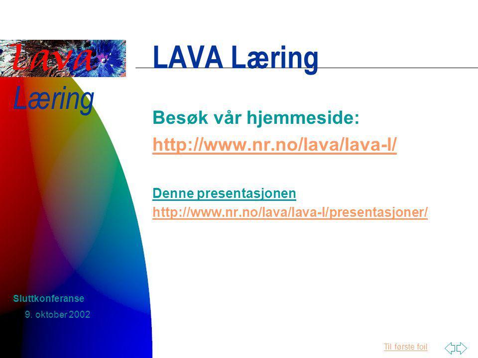 Til første foil Læring 9.