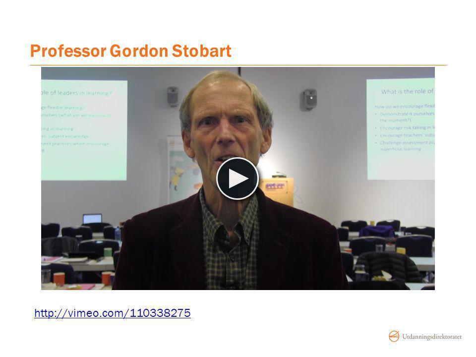 Professor Gordon Stobart http://vimeo.com/110338275