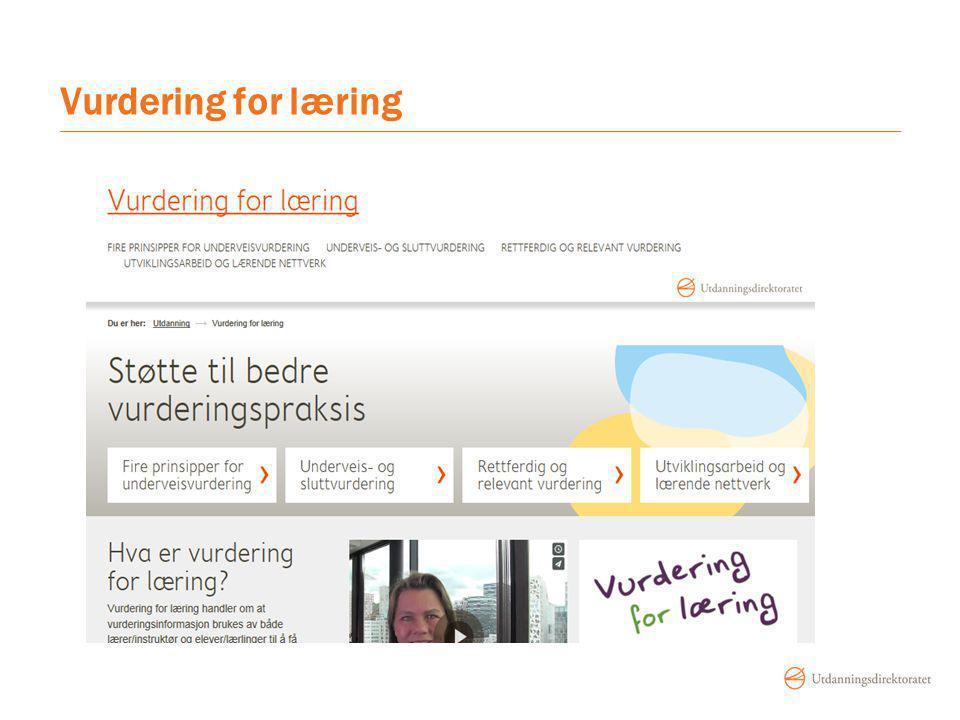 Vurdering for læring