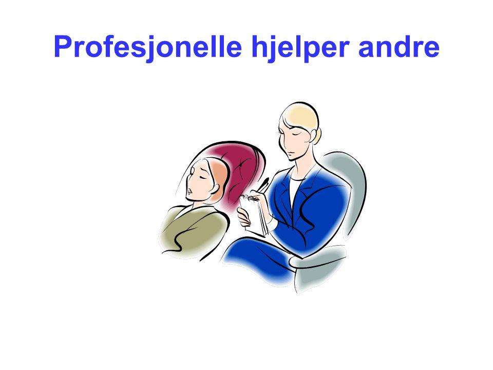 Profesjonelle hjelper andre