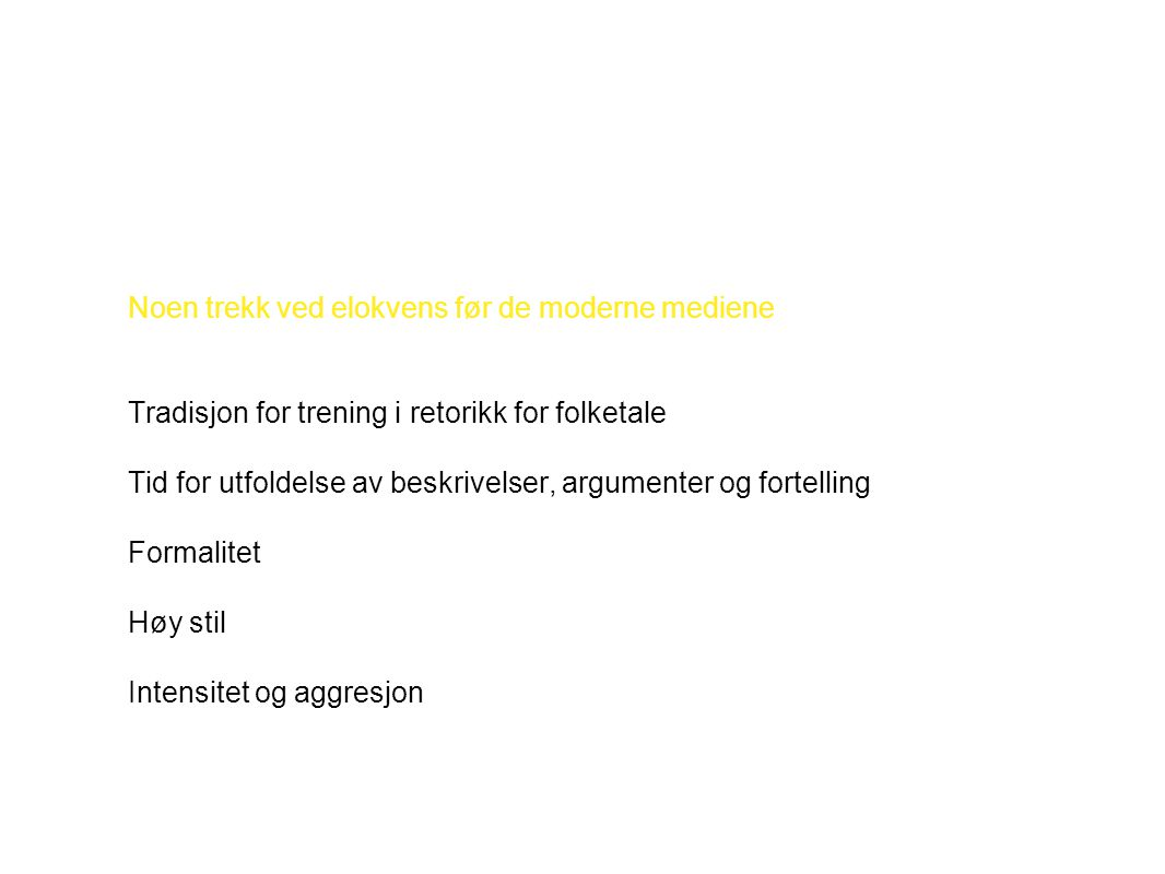 Høy/formell stil hos Henrik Wergeland: Medborgere.