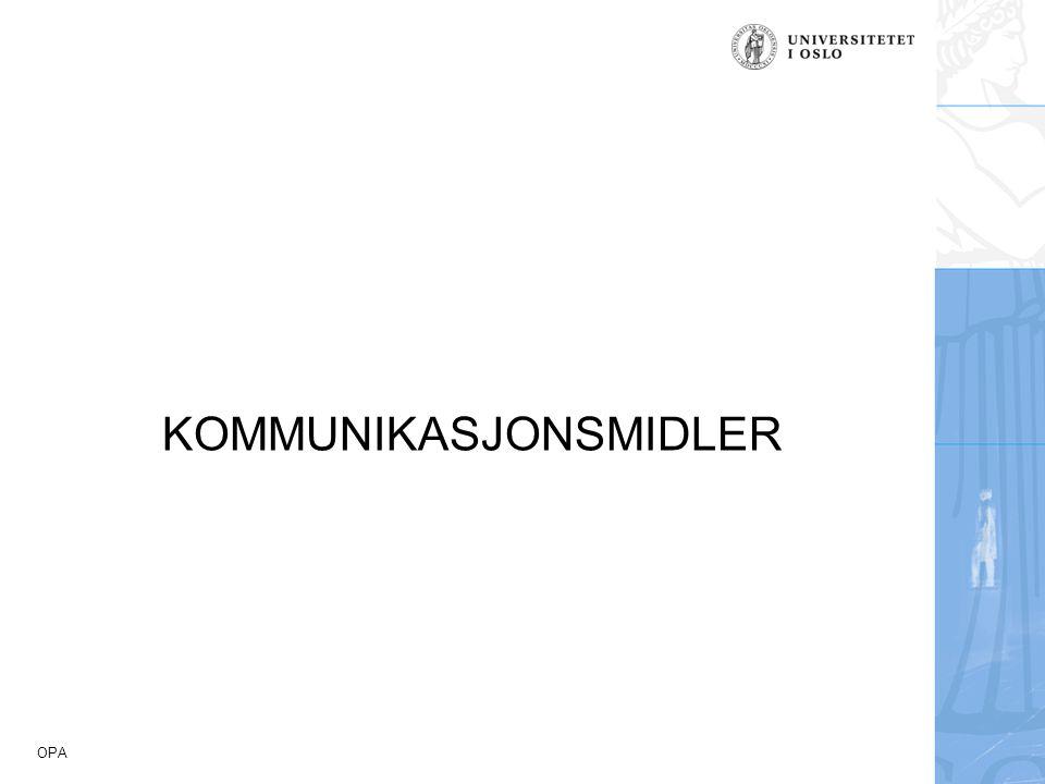 OPA KOMMUNIKASJONSMIDLER