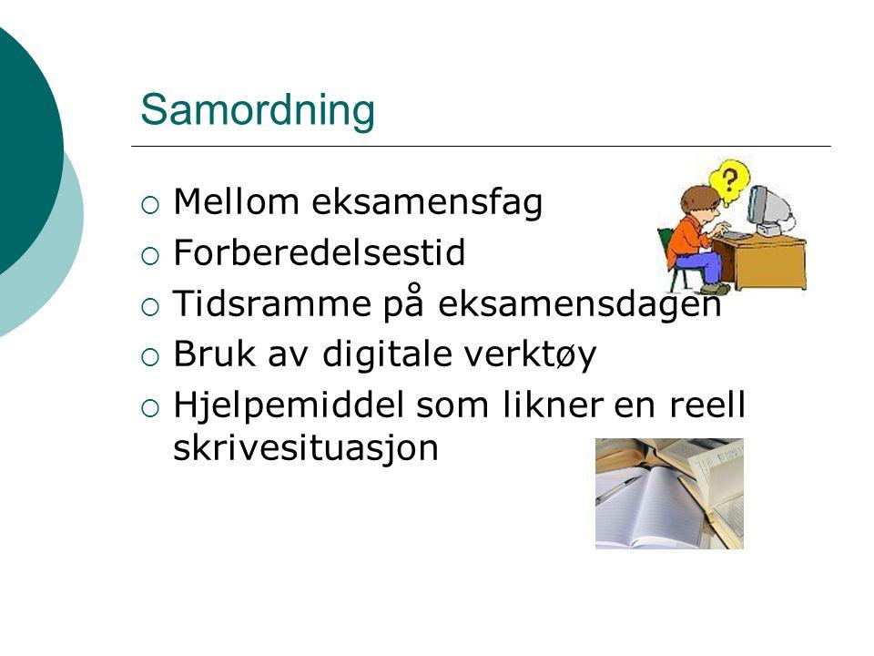 Tips til administrasjonen ved skolen  Alle norsklærere bør være godt orientert om den nye eksamensformen  Sørg for å frigjøre norsklærere til veiledningen av elevene samme dagen som elevene får tilgang kl.