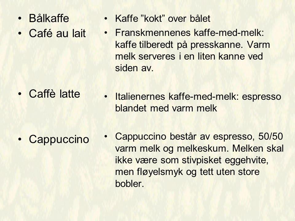 Bålkaffe Café au lait Caffè latte Cappuccino Kaffe kokt over bålet Franskmennenes kaffe-med-melk: kaffe tilberedt på presskanne.