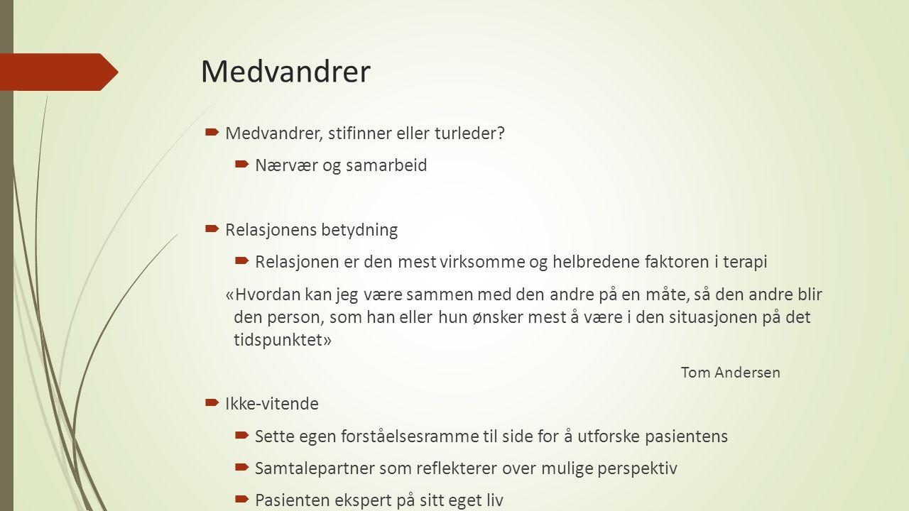 Litteratur Andersen, T.(2005), Reflekterende prosesser.