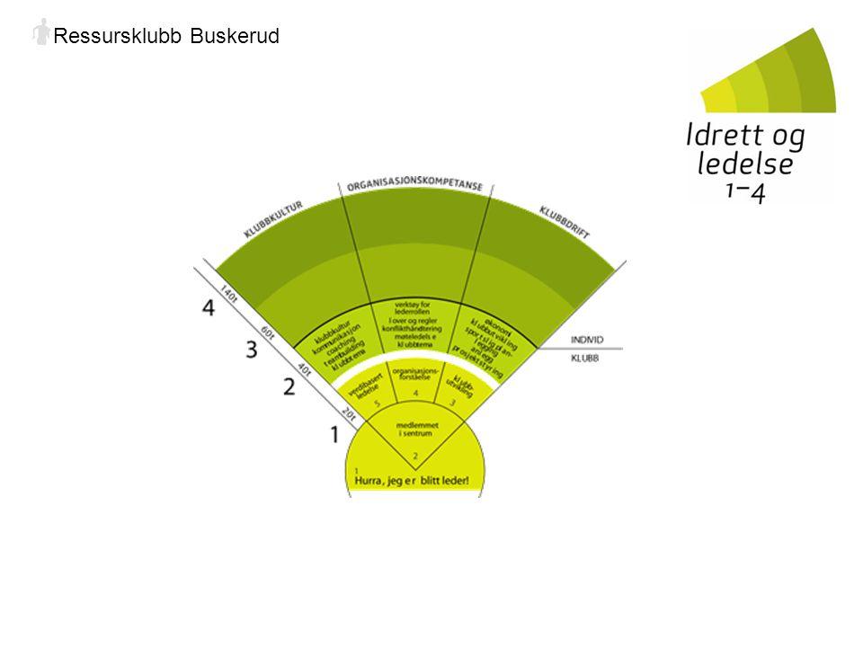 Kursinnhold Idrett og ledelse 1-4 består av 4 trinn hvorav trinn 1 og 2 kjøres i klubb/lag for alle med lederansvar mens trinn 3 og 4 gjennomføres for det enkelte individ og kjøres i første omgang på Norges Idrettshøgskole fra 2007.