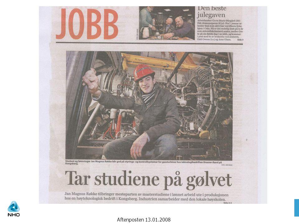 Taler bedriftenes sak Aftenposten 13.01.2008