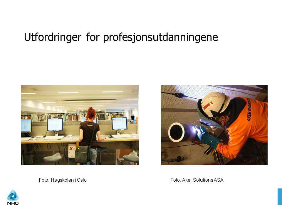 Taler bedriftenes sak Utfordringer for profesjonsutdanningene Foto: Høgskolen i OsloFoto: Aker Solutions ASA