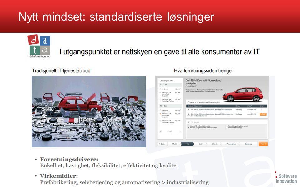 Nytt mindset: standardiserte løsninger