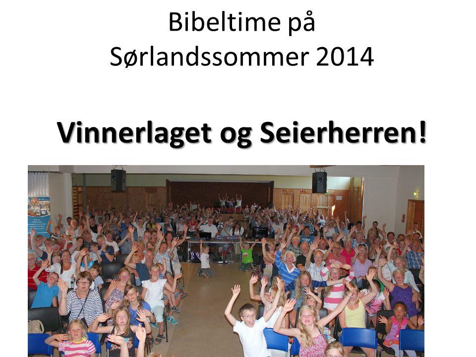 Vinnerlaget og Seierherren! Bibeltime på Sørlandssommer 2014 Vinnerlaget og Seierherren!