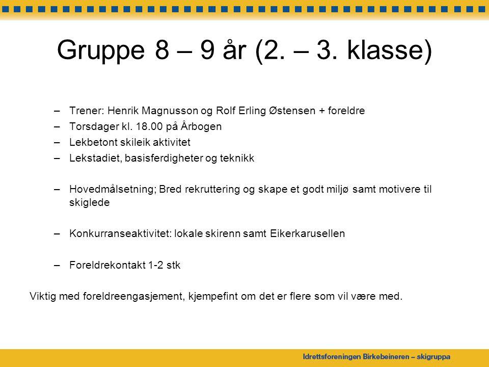 Egne arrangementer Barnas Skiskole –7.og 8.