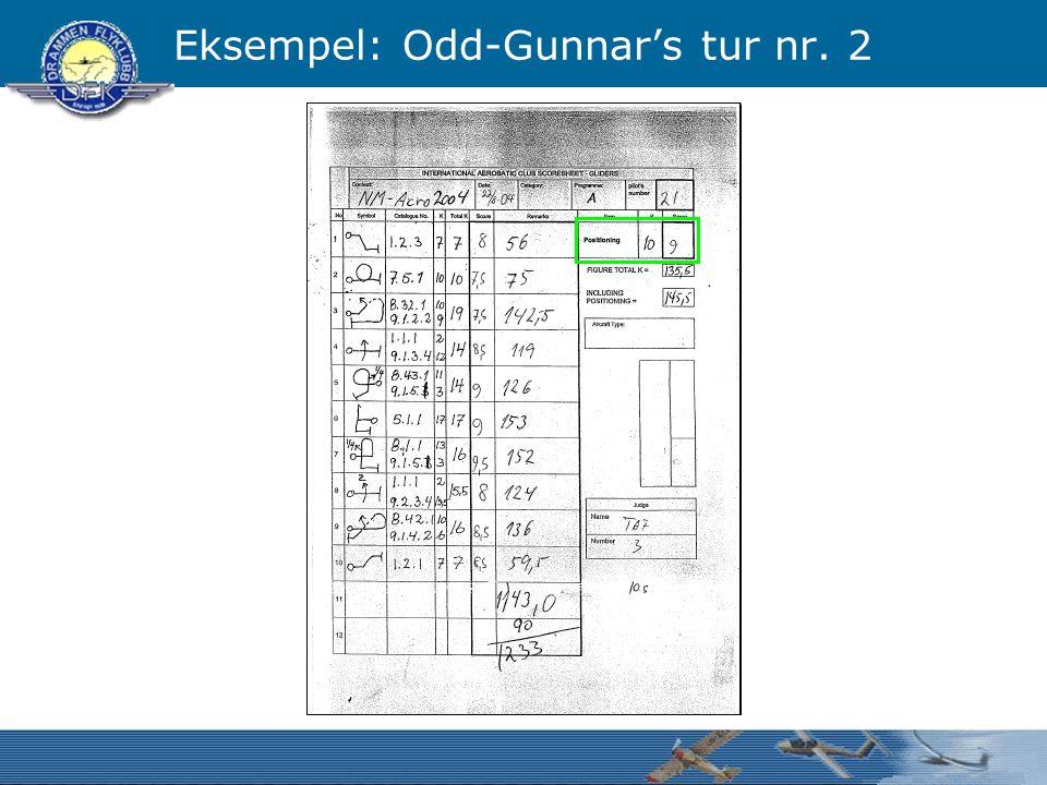 Eksempel: Odd-Gunnar's tur nr. 2
