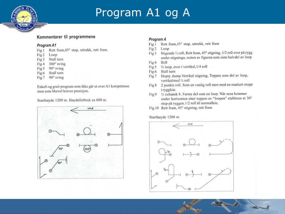 Program A1 og A