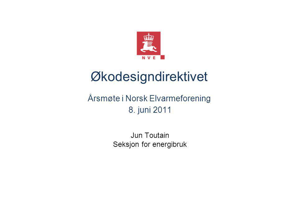 Norges vassdrags- og energidirektorat Innhold i presentasjonen ■ Direktivene ■ Forskriften ■ Kommende reguleringer ■ Prosessen ■ Status 10.01.2015