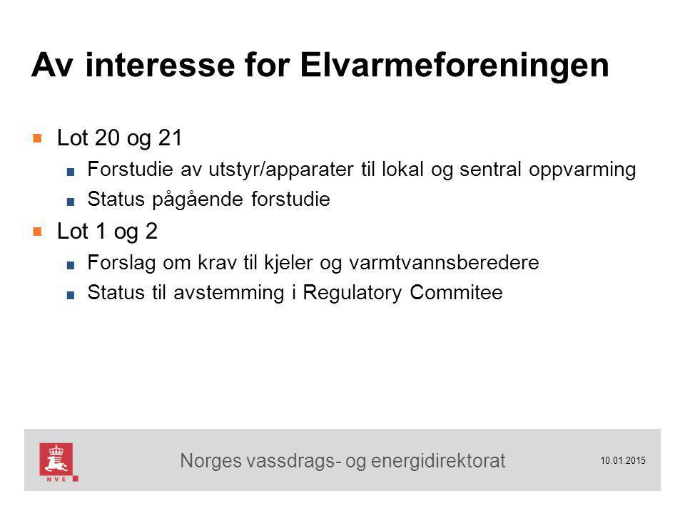 Norges vassdrags- og energidirektorat 10.01.2015 Takk for oppmerksomheten !