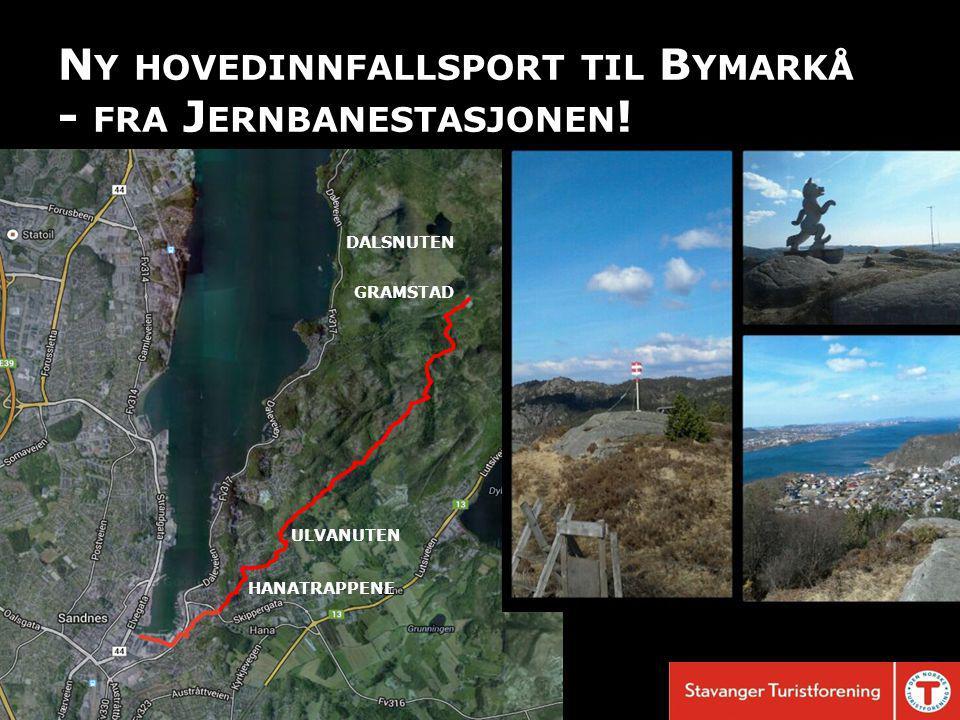 N Y HOVEDINNFALLSPORT TIL B YMARKÅ - FRA J ERNBANESTASJONEN .