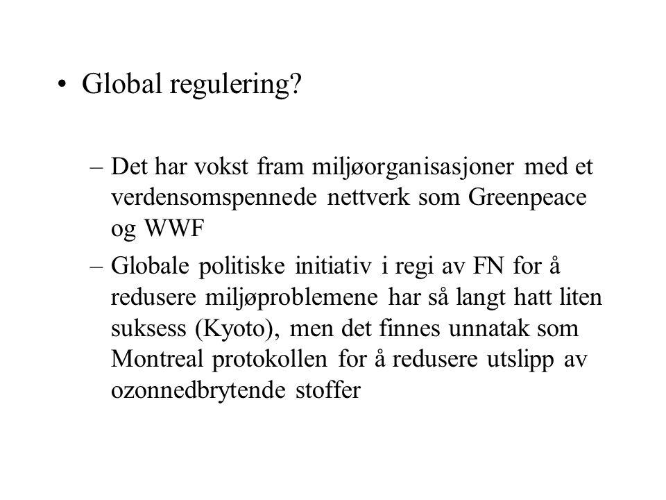 Global regulering.