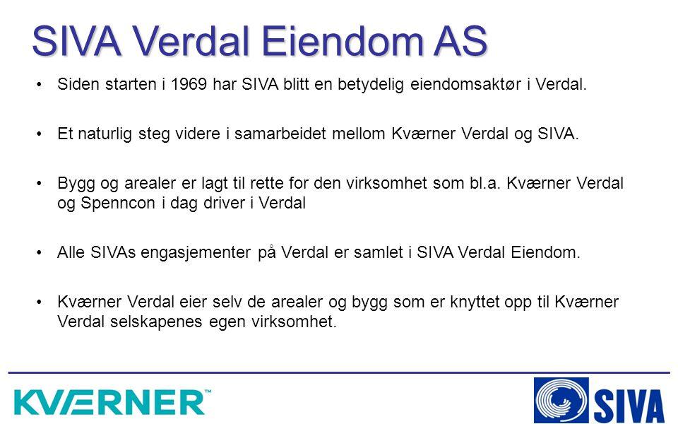 Siden starten i 1969 har SIVA blitt en betydelig eiendomsaktør i Verdal. Et naturlig steg videre i samarbeidet mellom Kværner Verdal og SIVA. Bygg og