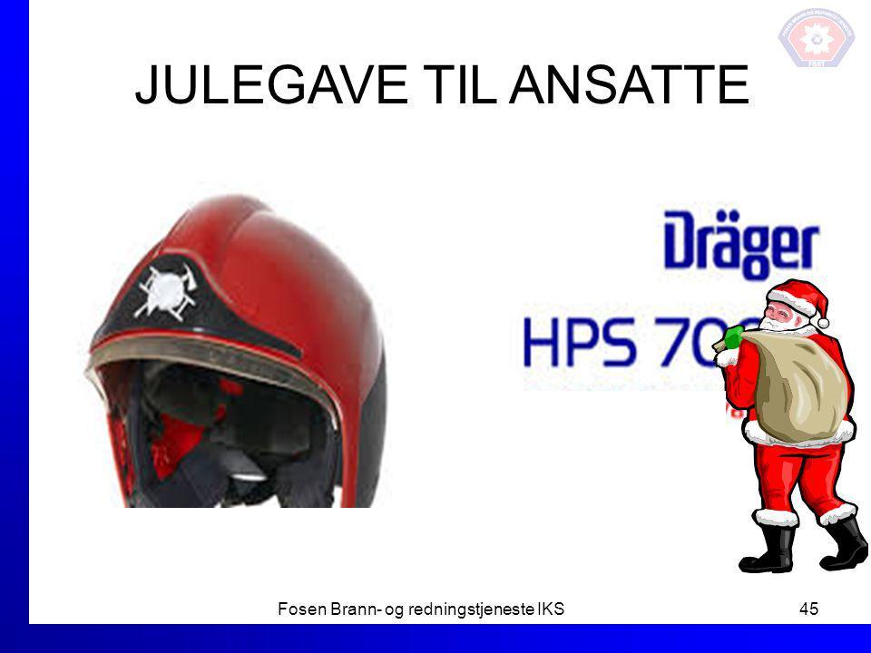 JULEGAVE TIL ANSATTE Fosen Brann- og redningstjeneste IKS45 Nye hjelmer