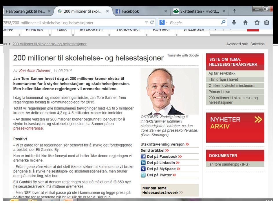 1.Situasjonsbeskrivelse: Hva er status i Hedmark.