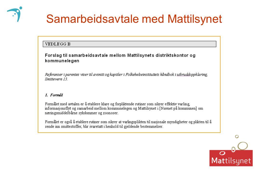 Samarbeidsavtale med Mattilsynet