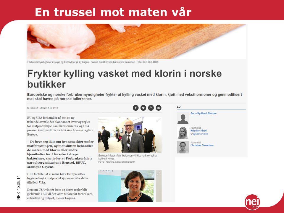 Ifo Institute for BMWI 2013 NRK 15.08.14 En trussel mot maten vår