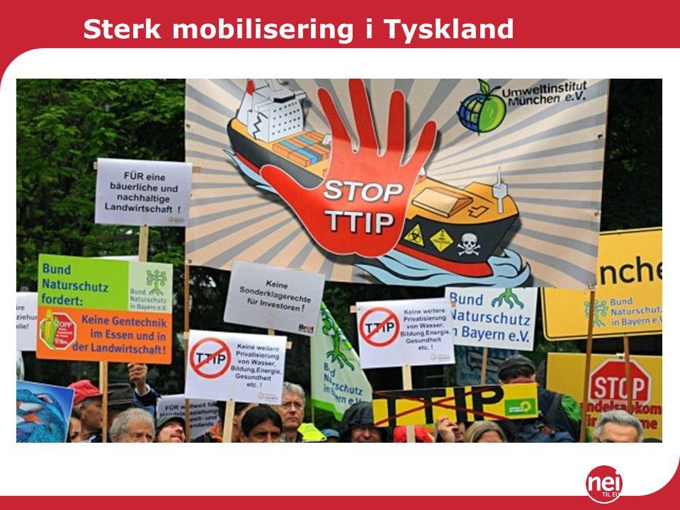Sterk mobilisering i Tyskland