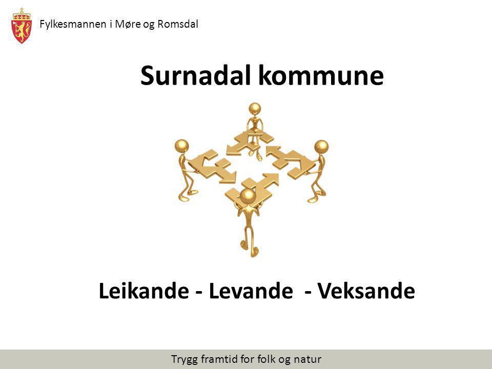 Fylkesmannen i Møre og Romsdal Trygg framtid for folk og natur Surnadal kommune Leikande - Levande - Veksande