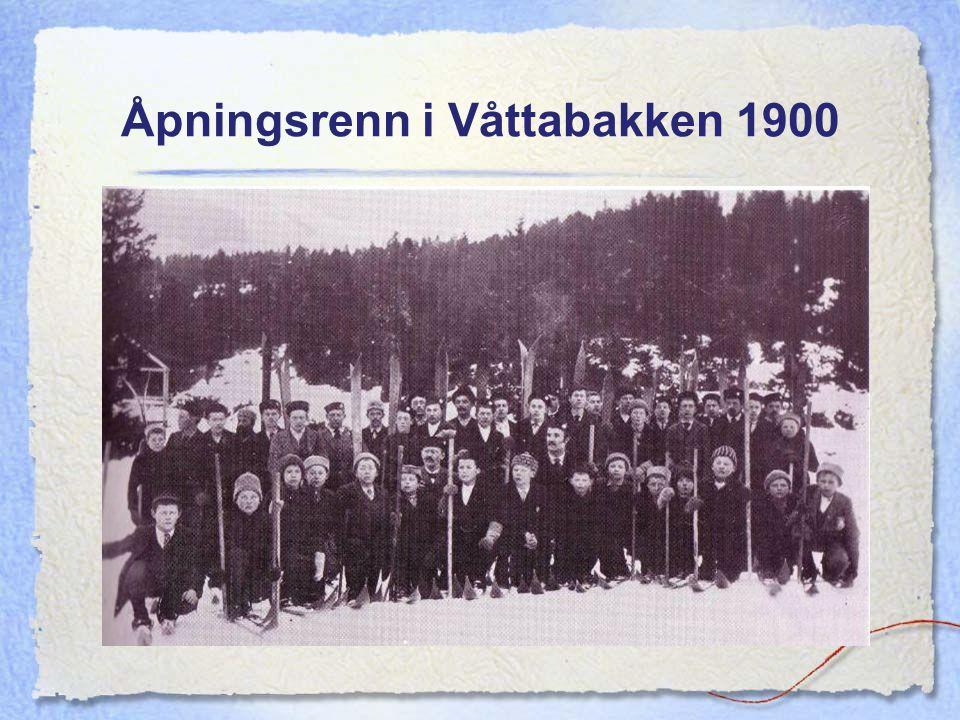 Åpningsrenn i Våttabakken 1900