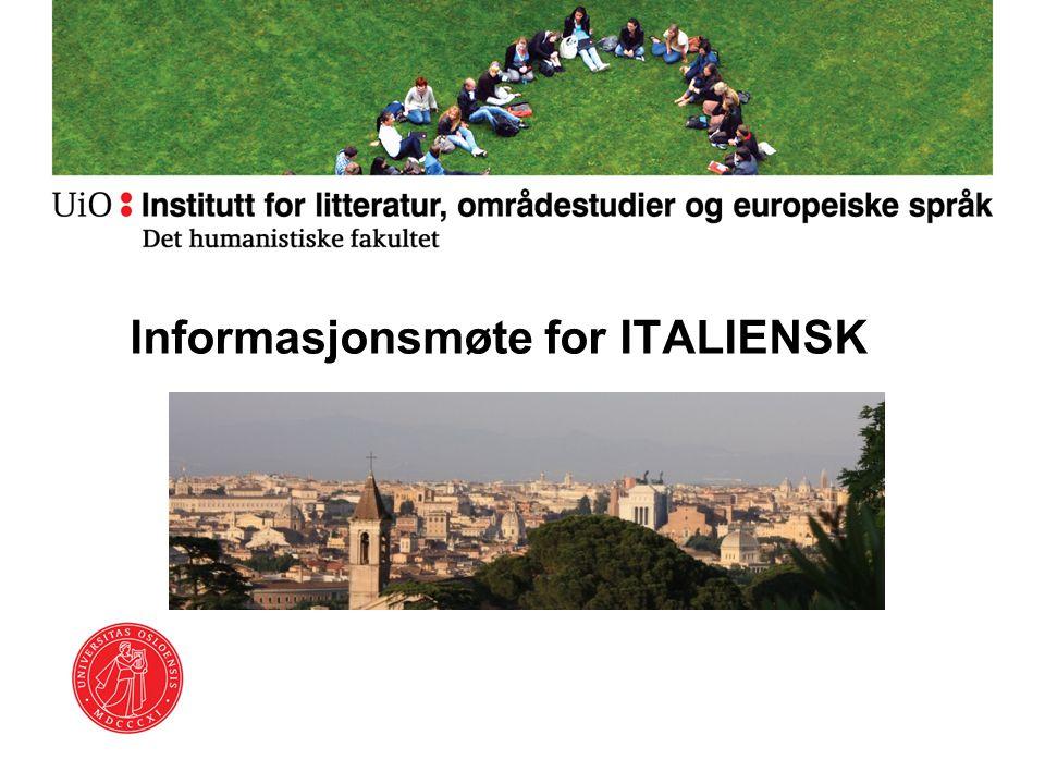 Informasjonsmøte for ITALIENSK