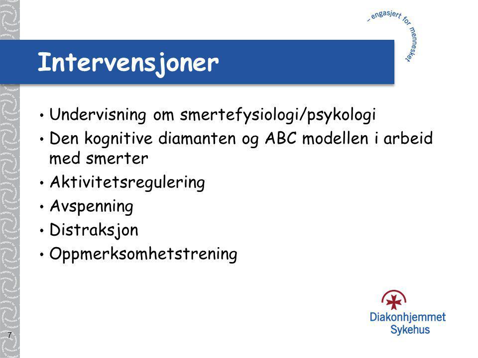 8 Smertefysiologi Ved irritasjon i vevene (f.eks.