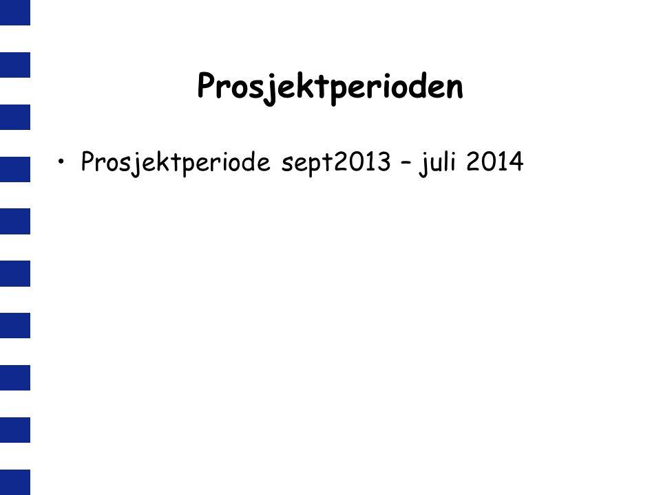 Prosjektperioden Prosjektperiode sept2013 – juli 2014