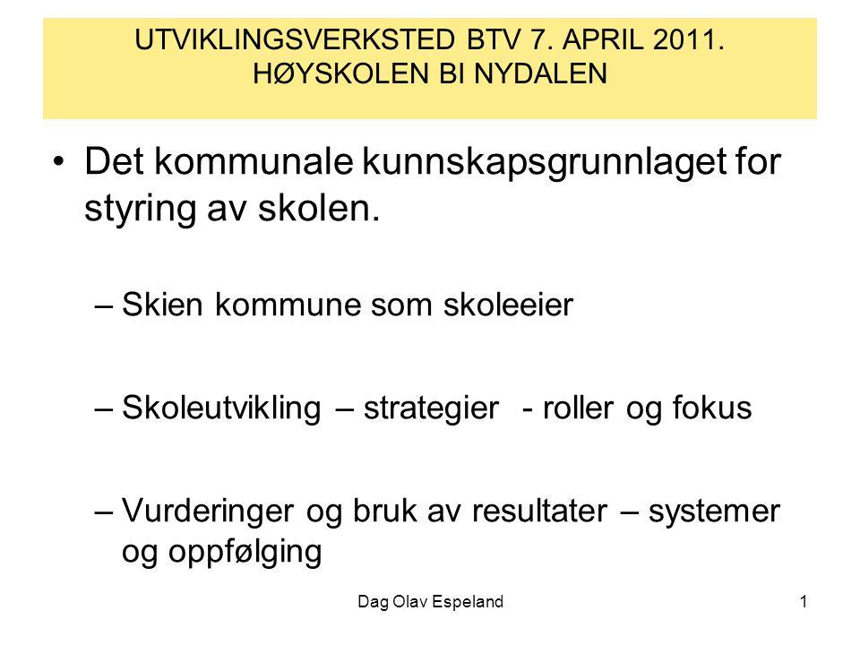 Dag Olav Espeland1 UTVIKLINGSVERKSTED BTV 7. APRIL 2011.