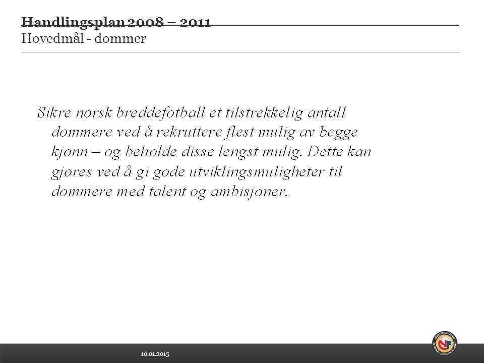10.01.2015 Handlingsplan 2008 – 2011 Hovedmål - dommer