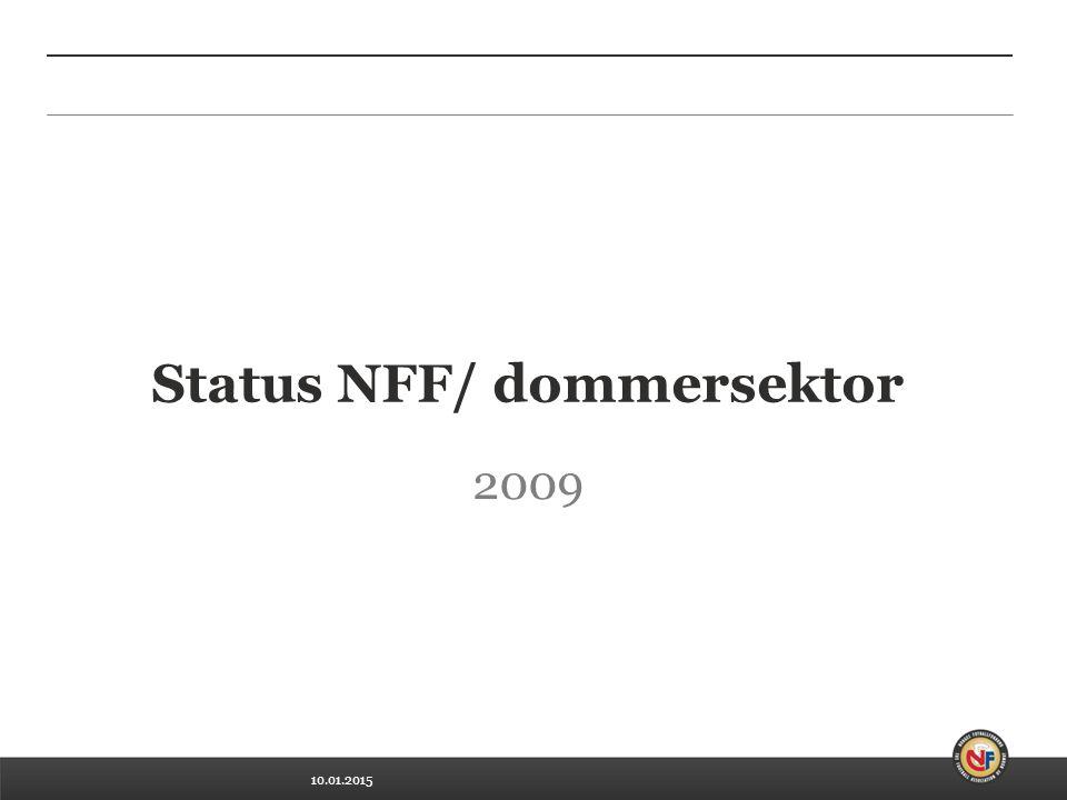 10.01.2015 Status NFF/ dommersektor 2009